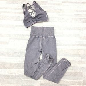 Free People Movement Strappy Back Crop 2pcs Set